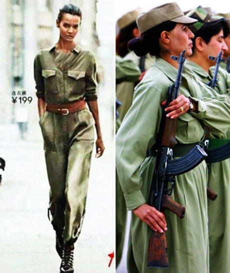 لباس دختران مبارز کرد به دنیای مد وارد شد (عکس)