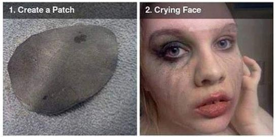 گریم وحشتناک این دختر برای مراسم هالیوون