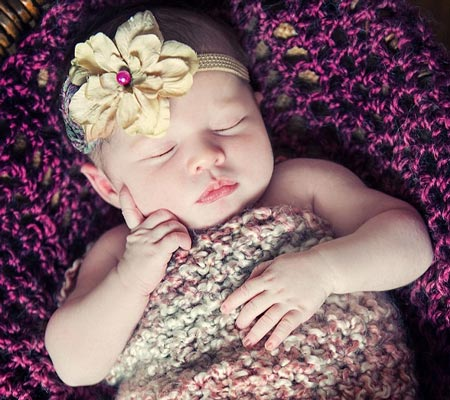 عکس های آتلیه ای ناز از نوزادان 14 روزه