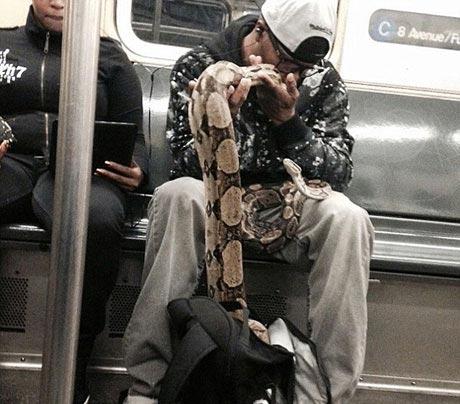 شوکه شدن مسافران مترو به خاطر حرکت عجیب این پسر! (عکس)