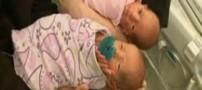 خانمی که در عین بی خبری دوقلو به دنیا آورد! (عکس)
