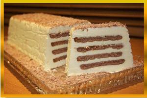 کیک بیسکوییت و کره و نحوه تهیه آن