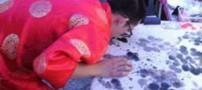 شیوه جدید و خلاقانه مرد چینی در نقاشی کشیدن (عکس)