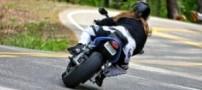 رکورد شکنی خانم 46 ساله با موتور سیکلت (عکس)
