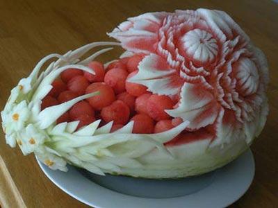 نمونه هایی بسیار زیبا از میوه آرایی