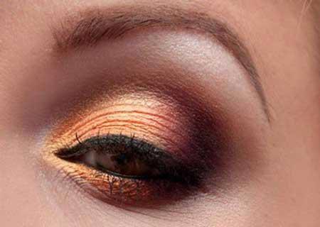 انواع مدل آرایش چشم مجلسی پاییزه