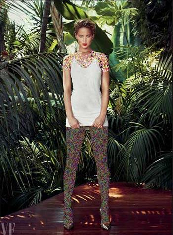 سری جدید عکس های جنیفر لارنس روی مجله Vanityfair