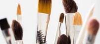طریقه صحیح پاکسازی قلم موهای آرایشی