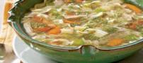 دستور طبخ سوپ رشته و مرغ