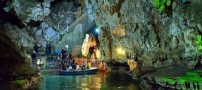 تصاویری دل انگیز از غار آبی سهولان در ارومیه