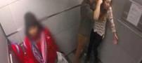 خشونت علیه زنان با دوربین مخفی در آسانسور (عکس)