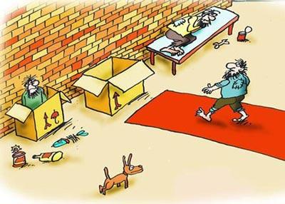 کاریکاتورهای جالب با مضمون فقر