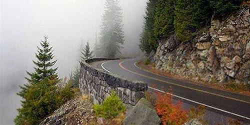 تصاویری دل انگیز از جاده زیبای چالوس ایران