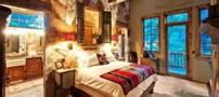 طراحی زیبای دکوراسیون اتاق خواب با چوب