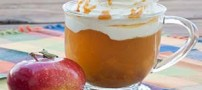 طرز تهیه نوشیدنی گرم سیب کاراملی