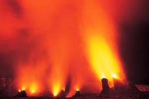 تصاویری جذاب از مرد آتشفشانی خوش ذوق