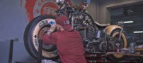 خالکوبی های جالب روی یک موتور سیکلت (عکس)