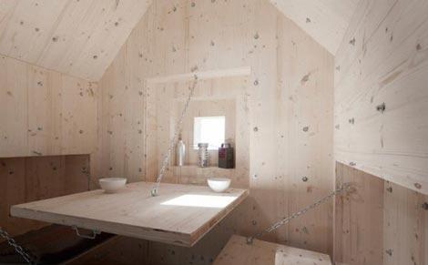 اتاقک های جالب چوبی سنگ نما (عکس)