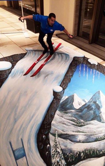نقاشی های هیجان انگیز سه بعدی خیابانی