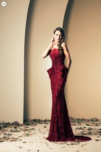 شیک و متفاوت ترین مدل لباس شب برند زیاد نکاد