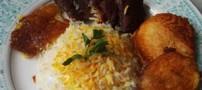 دستور تهیه کته با ته چین گوشت و سیب زمینی