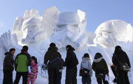 سنت دیدنی آتش و یخ در ژاپن
