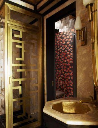 دکوراسیون های حمام های رویایی هالیوودی ها (تصاویر)