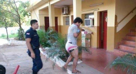 دزد حرفه ای که پوشک به تن میکرد (عکس)