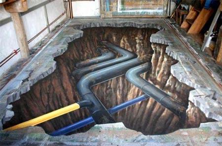 نقاشی های دیدنی سه بعدی خیابانی