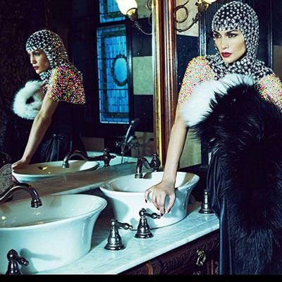 جدیدترین عکس های جنیفر لوپز روی مجله HarpersBazaar