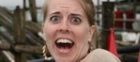 خارج کردن یک زالو از بینی خانم جوان (عکس)