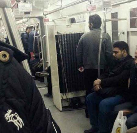 تصویری باورنکردنی از متروی تهران !