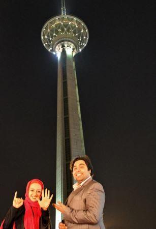 عکس های جدید نفیسه روشن و همسرش در برج میلاد