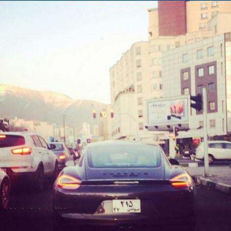 عکسی از گرانترین ماشین پلاک سیاسی در ایران