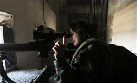 عکس های دیدنی جنگیدن زنان گارد ریاست جمهوری سوریه