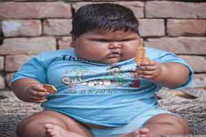چاقی کم سابقه و دیدنی نوزاد هندی (عکس)