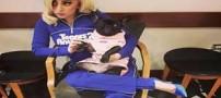 عکس های عاشقانه لیدی گاگا همراه با سگش