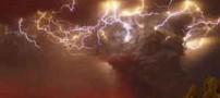 شگفتی دانشمندان از صاعقه در ابر آتشفشان (عکس)