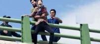 خودکشی دختر جوان روی پل  عابر پیاده در کرمانشاه (عکس)