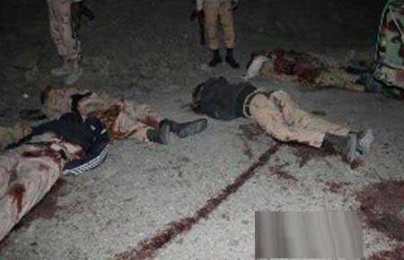 عکس های دلخراش از جنازه های ۸ مرزبان ایرانی (۱۸-)