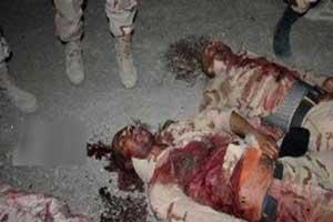 عکس های دلخراش از جنازه های 8 مرزبان ایرانی (18-)