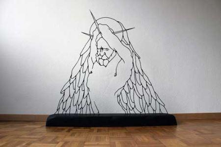 عکس های جالب مجسمه های ساخته شده با سیم فولادی!