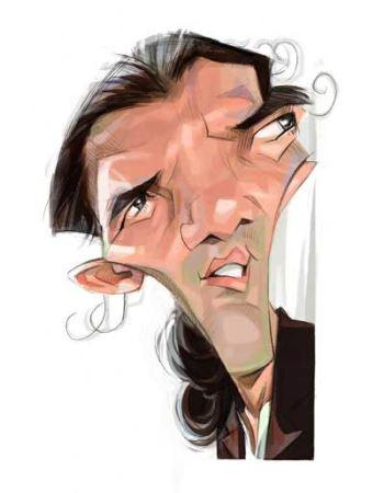 کاریکاتورهای چهره های معروف اثر کاریکاتوریست ناشنوا