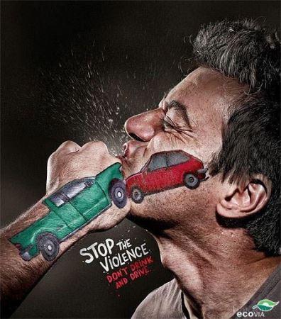 عکس های تبلیغات جالب برای اخطار به رانندگان بی احتیاط!