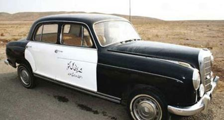 اولین ماشین پلیس در ایران (عکس)