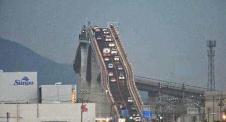 شیب دارترین پل دیدنی جهان (عکس)