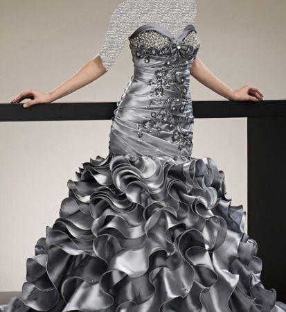 جدیدترین لباس نامزدی طرح موج رنگی 2015