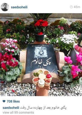 جنجال سنگ قبر سگ آقای بازیگر ایرانی (عکس)