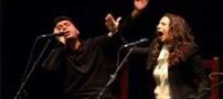 جنجال همخوانی خواننده سنتی ایران با زن اسپانیایی (عکس)