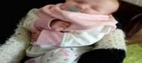 تولد نادر دختری بدون چشم! (عکس)